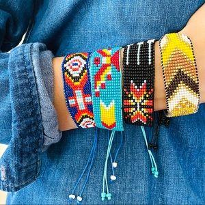 NWT beaded boho hand-woven rope bracelet